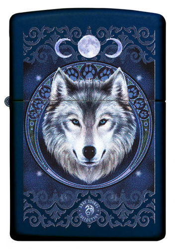 Zippo Anne Stokes Blue Wolf