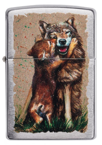 Zippo Wolf and Pup