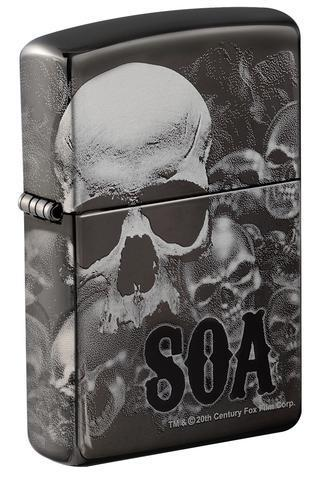 Zippo Sons of Anarchy Skull Black Ice